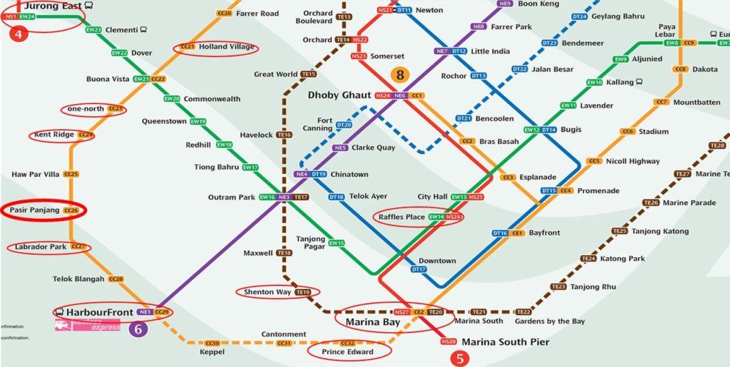Pasir Panjang MRT Line Image