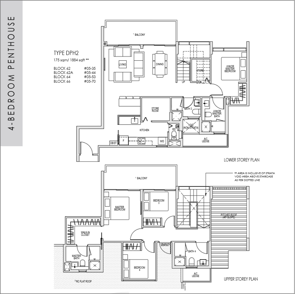 kent ridge hill residences floor plan_4 bedroom Penthouse