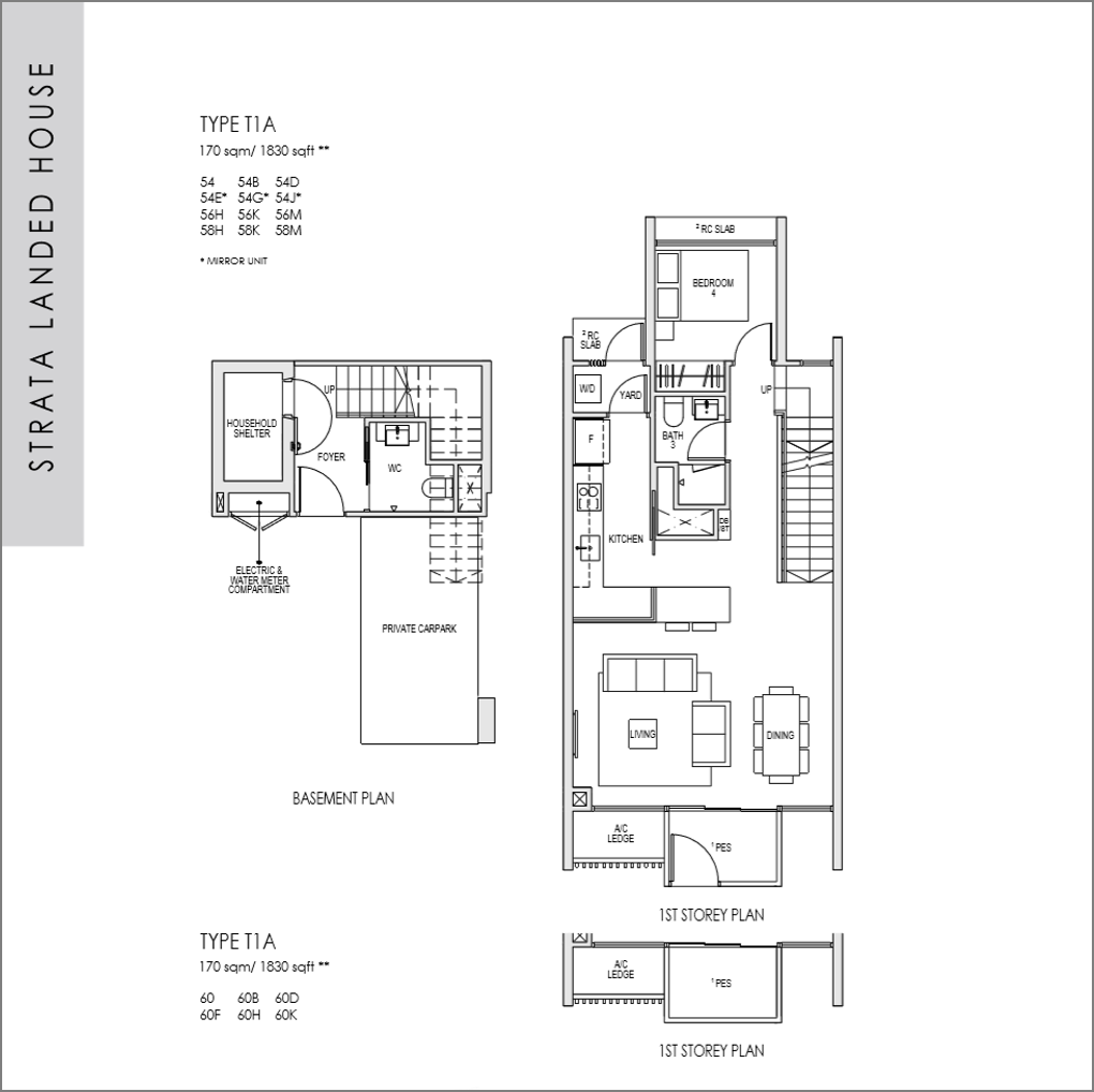 kent ridge hill residences floor plan_Strata Landed 4 bedroom_01
