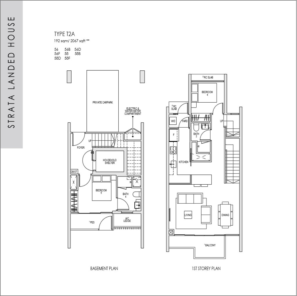 kent ridge hill residences floor plan_Strata Landed 5 bedroom_01