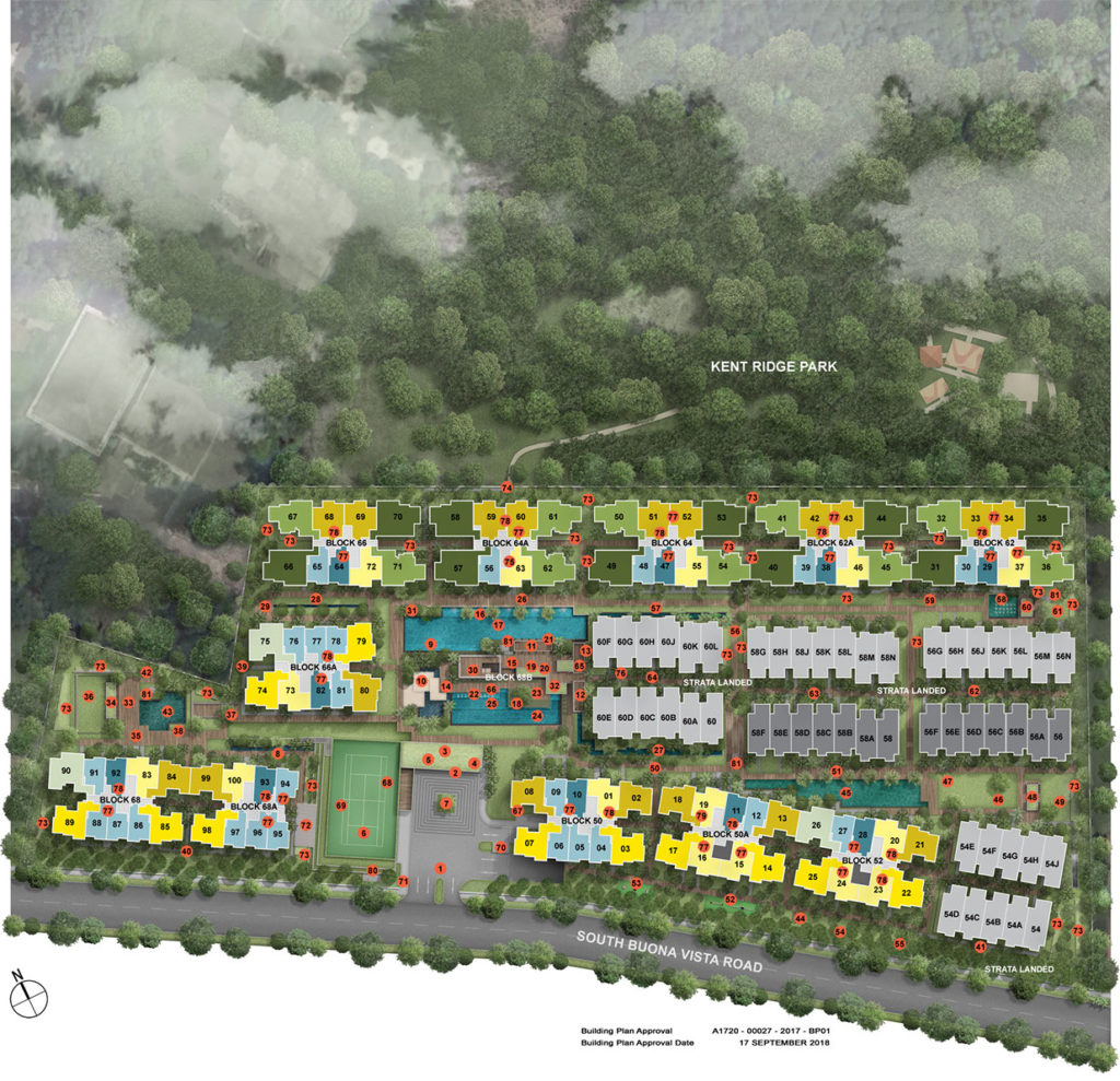 kent ridge hill residences site plan_graphic only
